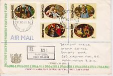 First day cover, Scott #268-272, Christmas, Cook Islands, 1969