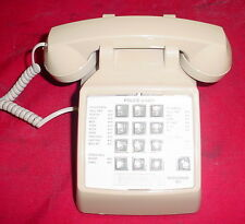 Cortelco 250044-MBA-20F - CH Desk Phone Telephone  w/ Flash Vintage ASH Beige