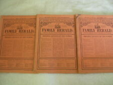 3 x Family Herald Periodicals Published in 1914 Newspaper Magazine + Advertising