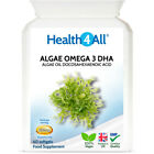 Health4All Algae Oil Omega 3 DHA 500mg Softgels   STRONG DOSE VEGAN OMEGA-3 DHA
