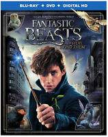 FANTASTIC BEASTS AND WHERE TO FIND THEM Blu-ray + DVD + DIGITAL HD NEW no tax