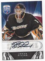 2009-10 Upper Deck BAP autographed signed hockey card Jonas Hiller Anaheim Ducks