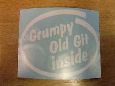 """""""GRUMPY OLD GIT INSIDE"""" Bumper/Window Sticker -- Intel style Vinyl Decal funny"""
