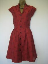 Jaeger boutique red and black polka dot dress size 10