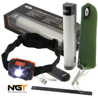 Large NGT Carp Fishing Bivvy Light With Power Bank + Case + NGT HEADLIGHT TORCH