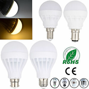 UK E27 ES E14 B22 BC B15 LED SMD Bulbs Globe Light 3W 5W 7W 9W 12W 15W 20W Lamps