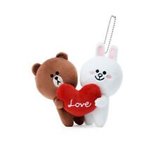 [LINE FRIENDS] BROWN & CONY Season 5 Love Couple Bag Charm Key Chain Doll 15cm