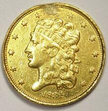 1834 Classic Gold Half Eagle $5 Coin - XF Details (Plugged) - Rare Type Coin!