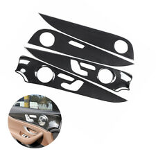 ABS Carbon Inner Door Panel Lid Cover Trim For Mercedes-Benz E-Class W213 16-21