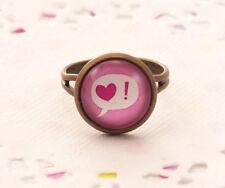 Bigiotteria rosa con cuore in ottone