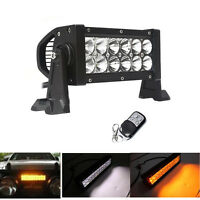 7.5inch 36W Amber White Strobe Dual Color Led Work Light Bar Offroad ATV Truck