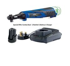 "Draper Storm Force® 10.8V Cordless 3/8"" Drive Ratchet Power 1 Battery + Charger"