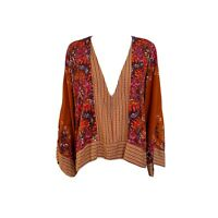 Free People Mix and Match Top in Rust Combo L ($108)