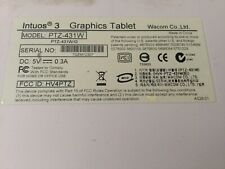 "WACOM Intuos 3 Graphics Tablet 4"" x 6"" - Model PTZ-431W"