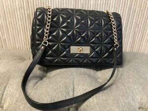 Authentic KATE SPADE Black Quilted Leather Medium Bag