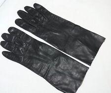 """Vintage Gant Jonquet Black Leather Kid Kidskin Gloves 10"""" Size 6 Lavable France"""