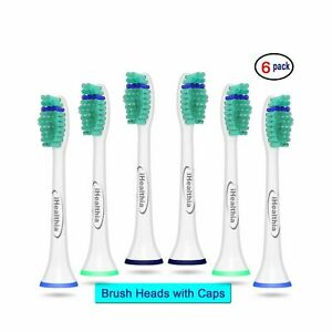 6 Compitable Toothbrush Head for Philips Sonicare Electric Toothbrush HX6014