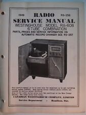 Service Manual Original Vintage Westinghouse Radio Model RA-608  Canada