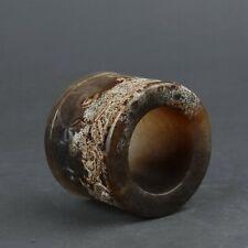 Chinese Exquisite Handmade Hetian jade Thumb ring