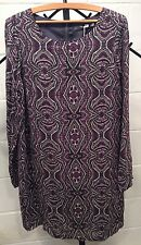NWT Prana Tunic Dress Cece Black Purple Gray Lined Small S FREE Shipping New