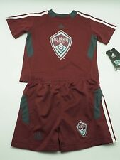 Colorado Rapids MLS Adidas Infant Toddler Jersey-Style Shirt & Shorts Combo Set