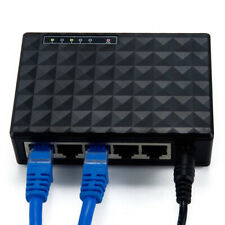 UK 5-Port LAN Ethernet Network Switch HUB Desktop Adapter 10/100Mbps