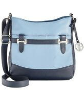 Giani Bernini Pebble Leather Hobo Crossbody BLUE