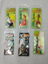 Captain Dan's Erie Dearie Fishing Lure 3/8 oz Walleye Bass Spinner - Lot of 6