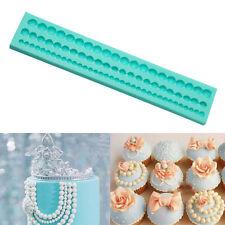 Perlen Silikonform Kuchenform Perlenkette Tortendeko Marzipan Fondant Pearl 3D