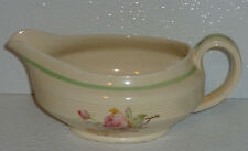 Wood's Gravy Sauce Boat Ivory Ware PICARDY ROSE Wood and Sons Woods Vtg England