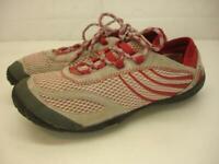 Women's 8 M Merrell Barefoot Pace Glove Shoes Chili Pepper Running Flats Vibram