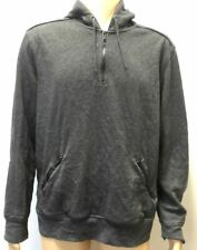 $495 Hawk & Co. Men Gray Long-Sleeve Sweater Hooded Pullover Sweatshirt Size Xl