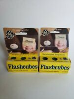 Vintage2X GE Flashcubes Original Box Set Of 6 Cubes 24 Flashes New Old Stock