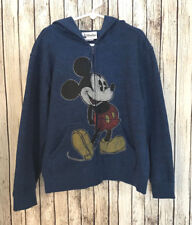 Mickey Mouse Distressed Full Zip Hoodie Childs Small Disney Parks Blue