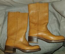 Tan western cowboy boots Mens 9D Leather Sears