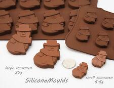Pequeño muñeco de nieve 5.5g de 12 celdas Chocolate Candy silicona para Hornear Molde Galletas De Jabón