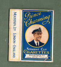 Old EMPTY cigarette packet Moustafa Prince Charming. our king who abdicated RARE