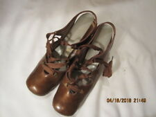 Preowned Vintage Women's Brown Leather Shoes - Unmarked Size 6 1/2 to 7