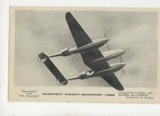 Lockheed Lightning Vintage Aircraft Recognition Card 146b