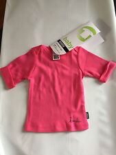 Baby Girls Sz 000 Bonds BRAND Pretty Pink Organic Cotton 3/4 Sleeve Tee Top