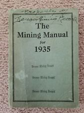 New listing The Mining Manual for 1935, Good Shape