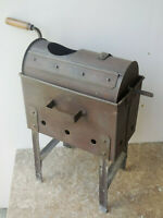 Huge antique french large tole primitive coffee roaster - rare complete