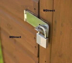 Safety Hasp and Staple Gate Door Shed Latch Lock Blanket Box Chest Padlocks