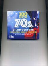 100 HITS - 70S CHARTBUSTERS - T-REX LEO SAYER BONEY M SWEET - 5 CDS - NEW!!