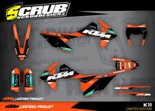 KTM graphics EXC 125 250 300 350 450 500 2017 2018 2019 '17 '18 '19 SCRUB decals