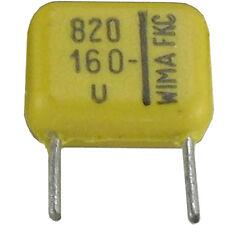 10 St WIMA FKC Folienkondensator Kondensator 820pF  160VDC ±5% NOS