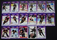 1991-92 Score American Vancouver Canucks Team Set of 22 Hockey Cards W/ Traded