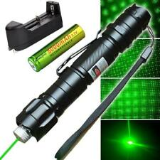 High Power Green Laser Pointer Military Beam Lazer Pen + Star Cap + Battery USA!