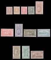 Greece #117-128 MH CV$1784.00 1896 Olympic Games [25l Slight Toning Specks]