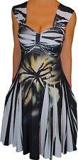JJ2 Funfash Plus Size Dress Black White Empire Waist Cocktail Dress 1x 18 20